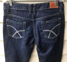 RIDERS BUMSTER SUPER SKINNY SZ 9 Womens Blue Denim Jeans Dark Wash Skinny EUC