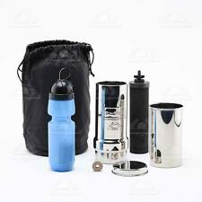 Go Berkey Kit Water Survival Purifier w Black Filter  w Sport Berkey and w Case