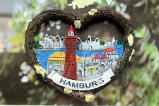Hamburg, Deutschland Reiseandenken Reise Souvenir 3D Polyresin Kühlschrankmagnet