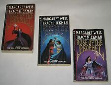 Margaret Weis & Tracy Hickman lot of 3 fantasy PBs complete Rose & the Prophet