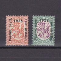 Finland 1928, Sc #153-154, CV $20, MH