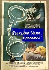VINTAGE 1962 SCOTLAND YARD FOREIGN MOVIE THEATRE POSTER NATIONAL SCREEN SERVICE