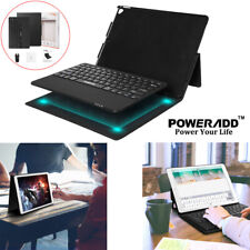 "For iPad Pro 12.9"" 1st & 2nd Gen Bluetooth Combo Keyboard PU Leather Case Stand"