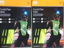 NATHAN CycloTier Cycling High Visibility Reflective Vest Safety Yellow 2042nsy