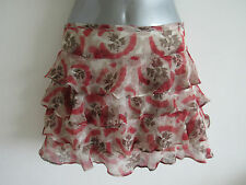 Topshop Short/Mini Floral Tiered Skirts for Women