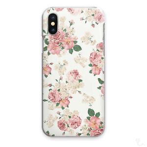 Vintage Floral Print Phone Case For Motorola G/Nokia 1/9, Pink Flower Hard Cover