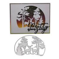Deer Forest Cutting Dies Stencil DIY Scrapbooking Paper Card Embossing Craft
