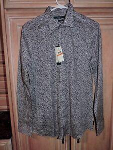 Perry Ellis Men's Slim Fit Long Sleeve Casual Dress Shirt Purple Size S NWT