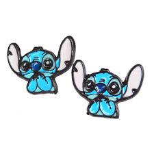 Disney Lilo & Stitch Cute Kawaii Cartoon Enameled Stud Earrings Free Gift Bag