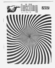 INKLING #1 - 1968 comic book fanzine adzine, mentions Mark Evanier LA comic club