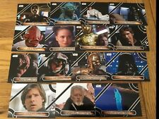 Star Wars Galactic Files Reborn Complete Famous Quotes Chase Set MQ1 - MQ15