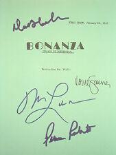 Bonanza Signed TV Script Michael Landon Dan Blocker Lorne Greene Roberts reprint
