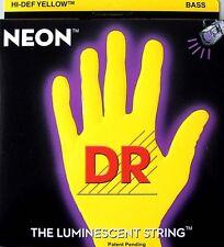 DR Neon YELLOW 6 String BASS Guitar 30-125 NYB6-30