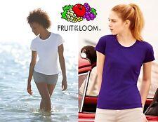 Maglietta girocollo donna  t-shirt FRUIT OF THE LOOM pezzi 3 COLORE BIANCO #
