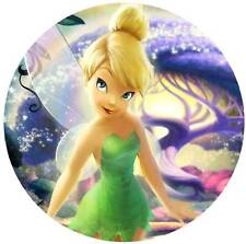 Tinkerbell Round Edible Party Cake Image Topper Frosting Icing Sheet