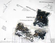 03 04 GSXR GSX-R 1000 SILVER COMPLETE FAIRING BOLT KIT