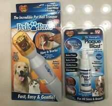 Pedi Paws Nail Trimmer For Dogs/Cats+Plaque Blast Brand New with Free Shipping!