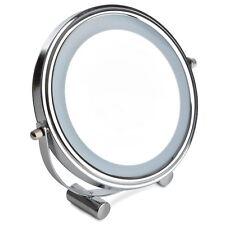Sabichi Light Up LED Mirror Chrome Finish Bathroom Bedroom Make Up