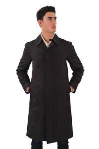 Louis Vuitton SALE !! Coat Men's 46 Brown Silk  Striped