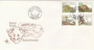 RSA2132) South Africa Commemorative FDC, 1982-12-01, Karoo Fossils 4.2, unaddres