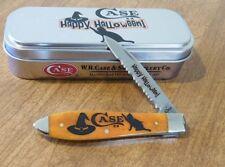 CASE XX New Persimmon Orange Halloween Single Blade Tear Drop Jack Knife/Knives