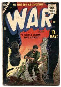 War Comics #43 1956- Atlas- D-DAY- Commie Mass Attack VG+
