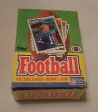 1987 Topps Football Wax Box Unopened 36 Packs John Elway Eric Dickerson Bottom