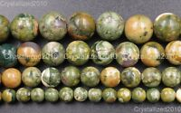 Natural Rhyolite Kambaba Jasper Gemstone Round Beads 6mm 8mm 10mm 12mm 15.5""