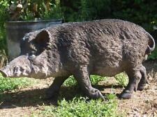 WILDSCHWEIN Keiler naturgetreu Garten Deko Tier Figur WILD TIERE WALD HOTANT