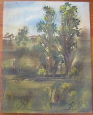 ANTIQUE  OR VINTAGE ISRAEL JEWISH RUSSIAN PAINTING OIL LANDSCAPE SIGNED