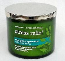 Bath & Body Works Aromatherapy EUCALYPTUS SPEARMINT 3-Wick Filled Candle 14.5 oz