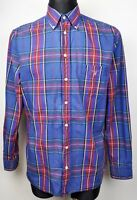 GANT Casual Fit Men's Medium Long Sleeved Formal Shirt M Checked Blue Red Top
