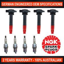 4x Genuine NGK Spark Plugs & 4x Ignition Coils for Mitsubishi Triton ML MN