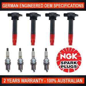 4x NGK Spark Plugs & 4x Swan Ignition Coils for Mitsubishi Triton ML MN