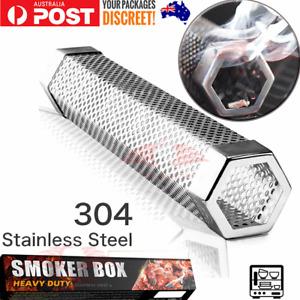 "BBQ Pellet Smoker Tube 12"" Smoke Generator for Hot cold smoking Stainless Steel"