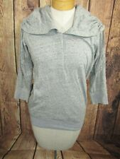 Nike Womens Pullover Athletic Top 3/4 Sleeves Sz XS Gray