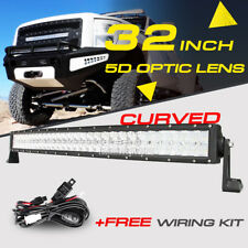 """5D CREE CURVED 32"""" 600W LED LIGHT BAR SPOT FLOOD DRIVING ATV FOR FORD RAM CHEVY"""