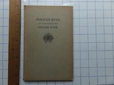 1930 Persian Rugs of Polish Type. Hardcover Metropolitan Museum exhibit book