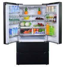 Smad Stainless Steel French Door Refrigerator with Auto Ice Maker Cabinet Depth