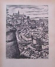 Ragimund Reimesch LUXEMBURG PETRUSTAL - AREL 2 Drucke 1943 prints