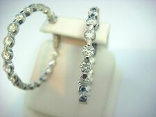 ! SPECTACULAR 5.50 CARAT T.W. LARGE DIAMONDS IN AND OUT HOOP EARRINGS 12.2 GRAMS