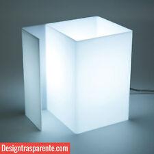 Lampada da tavolo da comodino scrivania per lettura in plexiglass..