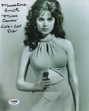 007 : MADELINE SMITH : 'MISS CARUSO' BEST EVER CHARACTERISED PHOTO PSA