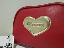 Love Moschino Golden Heart Cosmetic Bag / Pouch Authentic