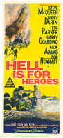 HELL IS FOR HEROES MOVIE POSTER Original AUSTRALIAN Daybill Size STEVE MCQUEEN