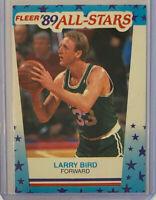 1989-90 Fleer #10 Larry Bird 89 All-Star Sticker Basketball Card