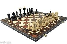 X LARGE AMBASSADOR WOODEN CHESS HANDCRAFTED  BOARD WOOD