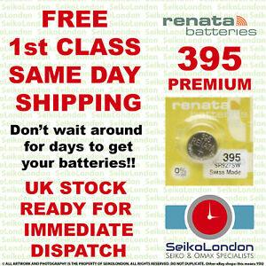 1X Renata PREMIUM 395, SR926SW, SR57, L926 1.55v Watch Battery FAST!!