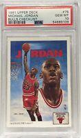 1991 Upper Deck #75 Michael Jordan Bulls Check List PSA Gem Mt 10 Chicago Bulls