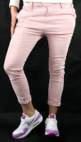PLEASE Chinos P63 HOSE Jeans Neu Gr.L Rosa Used Look Made in Italy Fashion 256